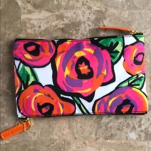 Sonia Kashuk Double Zip floral bag NWT
